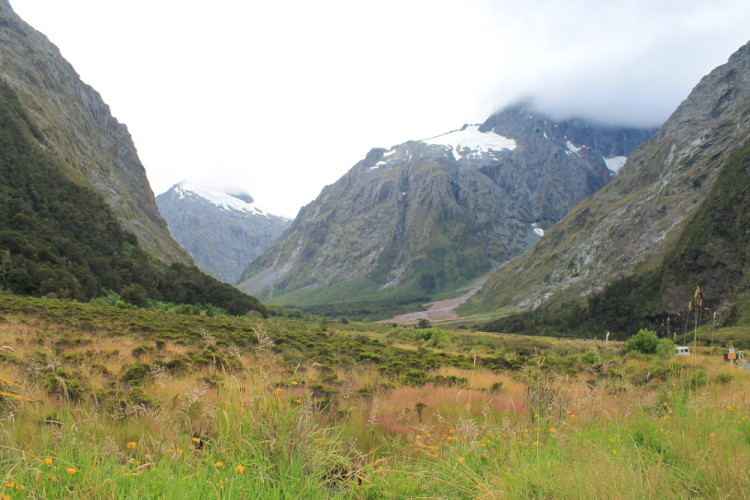 A stop on the bus tour to Milford Sound from Queenstown, New Zealand