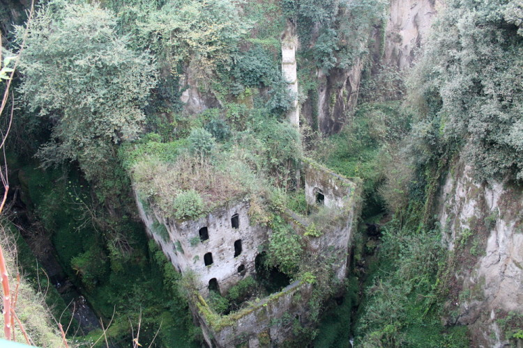 The old mill in Sorrento - seen on day trips to the Amalfi Coast