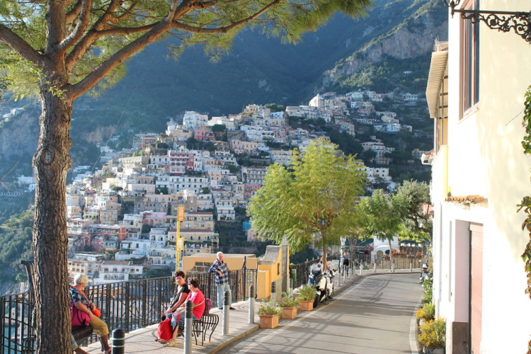 Positano, Italy - seen on day trips to the Amalfi Coast from Naples