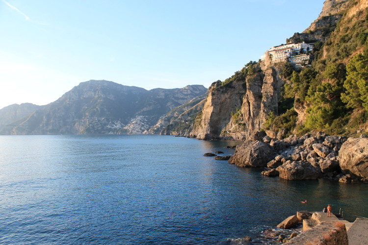 Seaside view in Praiano - a must visit when doing day trips to the Amalfi Coast