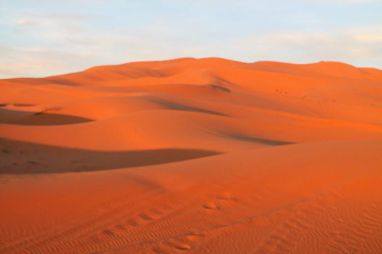 Erg Chebbi, the end of the 3 day Sahara Desert tour from Marrakech, Morocco