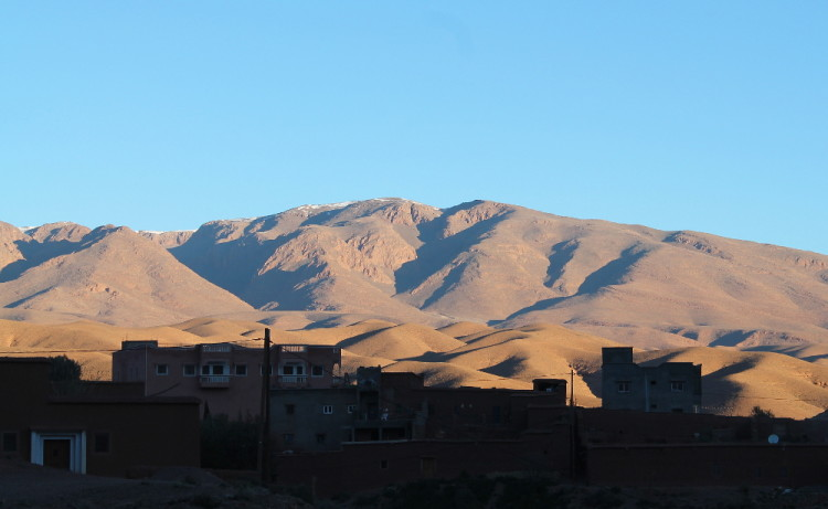 View from the hotel on the 3 day Sahara Desert tour from Marrakech, Morocco
