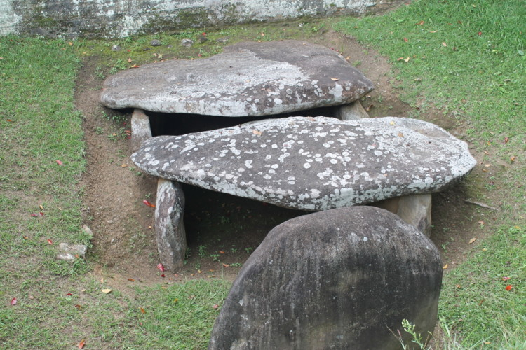 An ancient grave in San Agustin, Colombia