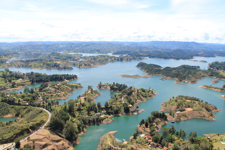 Stunning natural wonders in South America -- Guatape, Colombia