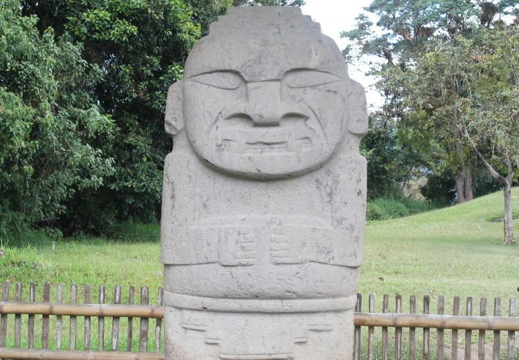 A statue near San Agustin, Colombia