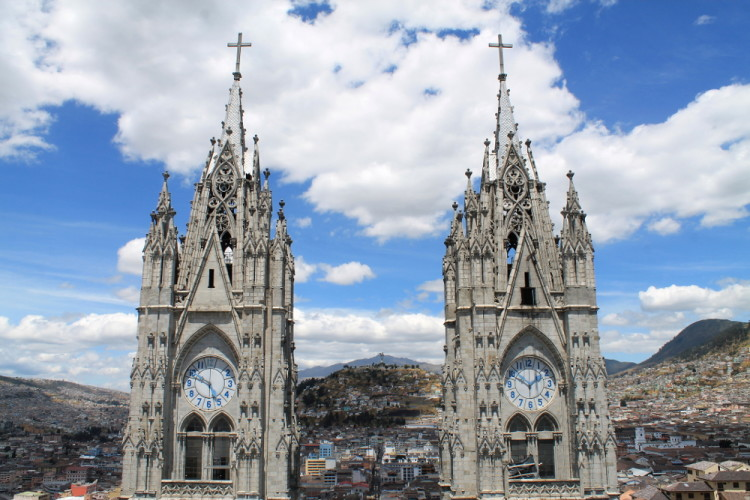 Quito old town, Ecuador: The Basilica