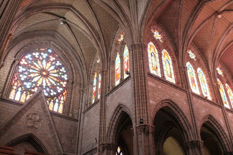 Quito old town, Ecuador: Inside the Basilica