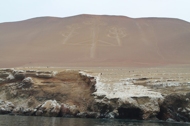 The Candelabra Geoglyph, Ballestas Islands tour, Paracas, Peru