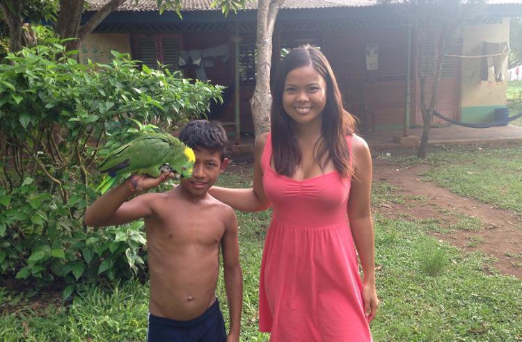 Solentiname Islands, Nicaragua: A pet parrot