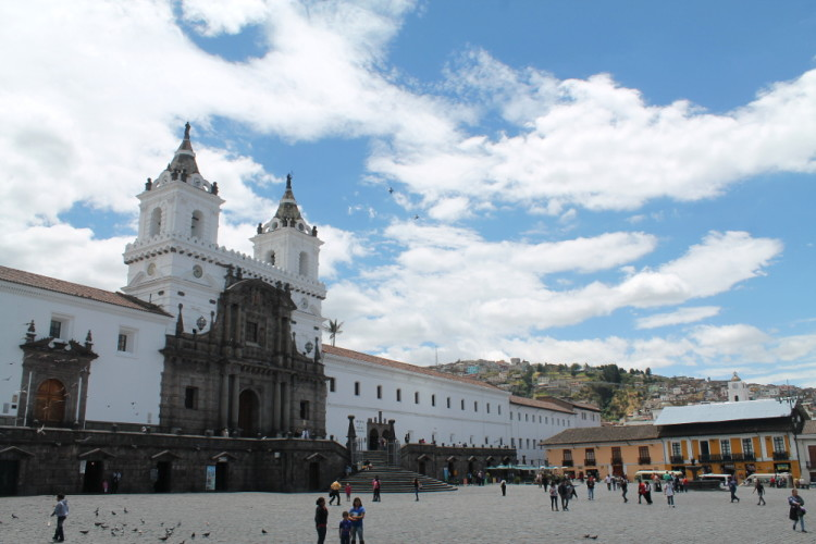 Quito old town, Ecuador: Plaza San Francisco