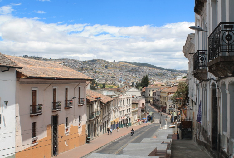 Quito old town, Ecuador: Colonial houses