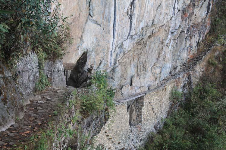 Inca Bridge, Machu Picchu, Peru