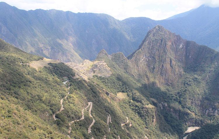 half way to the Sun Gate, Machu Picchu, Peru