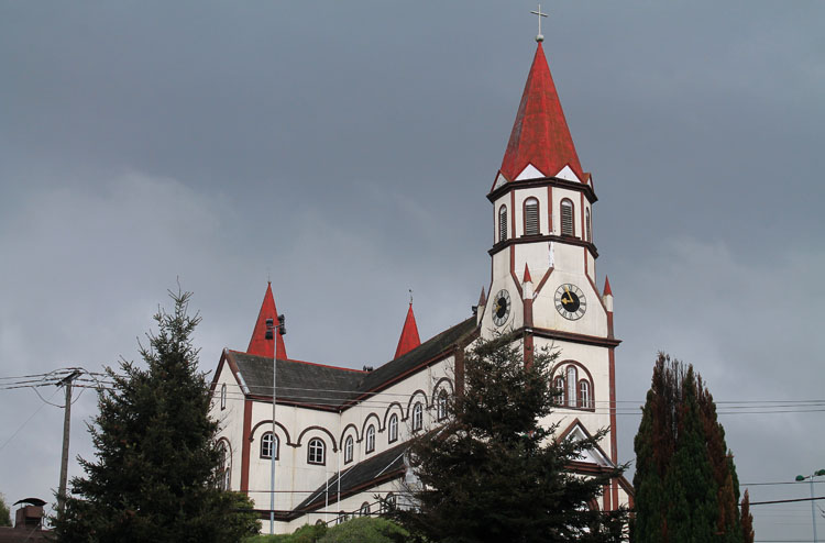 A German church in Puerto Varas, Chile