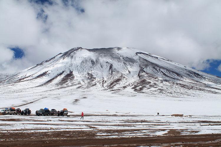 Uyuni salt flat tour, Bolivia: Border Bolivia and Chile