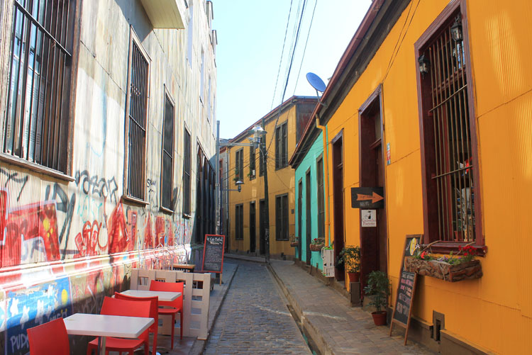 Day trip to Valparaiso, Chile: Concepcion Hill cafe