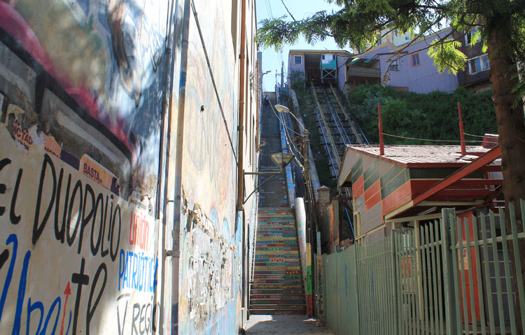 Day trip to Valparaiso, Chile: Funicular