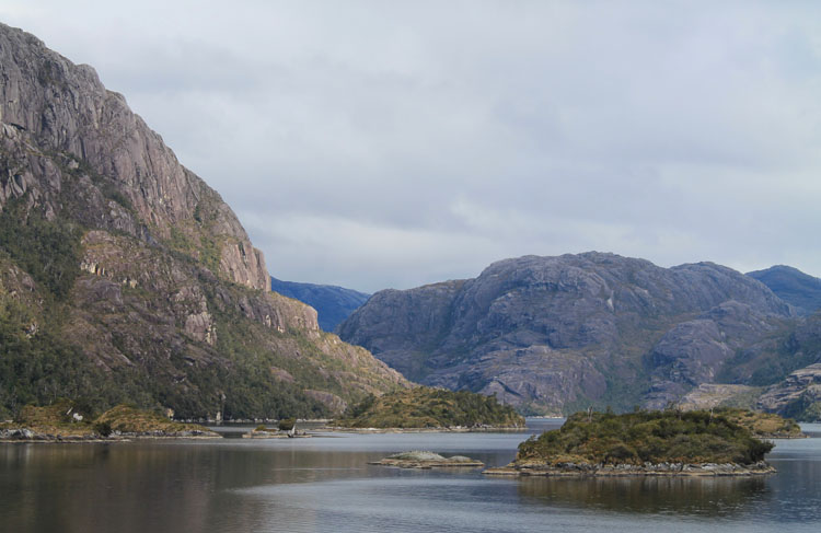 A budget cruise through Patagonia on the Navimag ferry from Puerto Montt to Puerto Natales: Rocky hills and islands