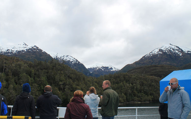 A budget cruise through Patagonia on the Navimag ferry from Puerto Montt to Puerto Natales: The front deck of the Eden