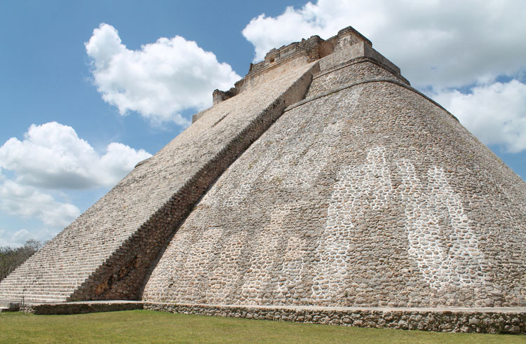 A circular pyramid at Uxmal, Mexico