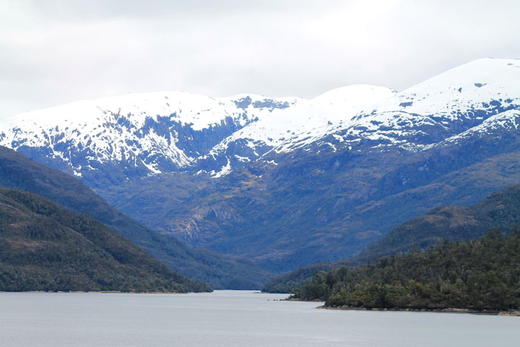 A budget cruise through Patagonia on the Navimag ferry from Puerto Montt to Puerto Natales: Snow-capped mountains