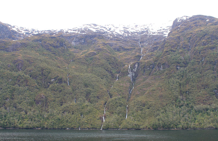 A budget cruise through Patagonia on the Navimag ferry from Puerto Montt to Puerto Natales: Waterfalls