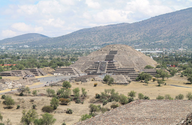 Teotihuacan, pyramids near Mexico City: The view from the Pyramid of the Sun