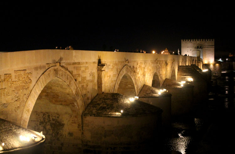 2 days in Córdoba, Spain -- The Roman Bridge at night