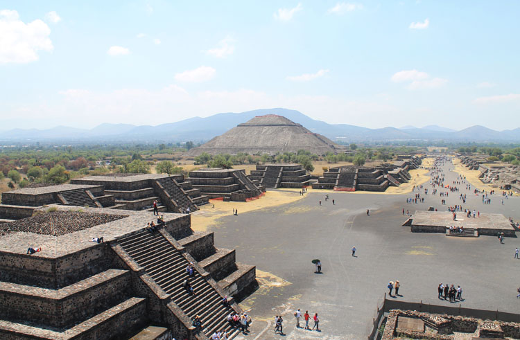 Teotihuacan, pyramids near Mexico City: The view from the Pyramid of the Moon