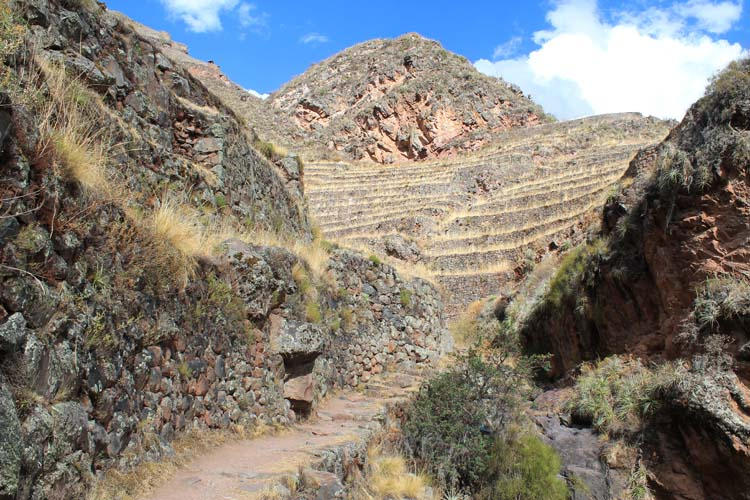 Walking around the Pisac ruins, Peru