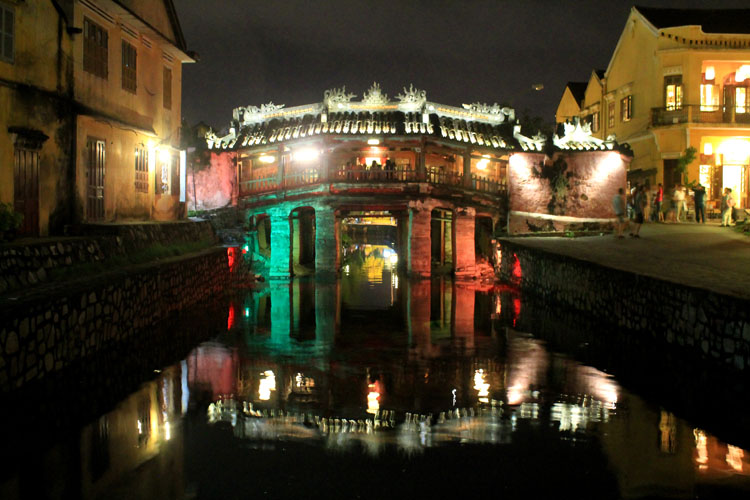 Hoi An Ancient Town, Vietnam -- Japanese Bridge at night