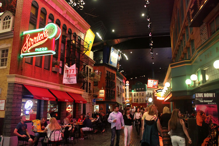 Fake New York streets in Las Vegas