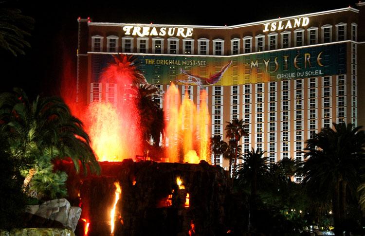 A volcano in Las Vegas