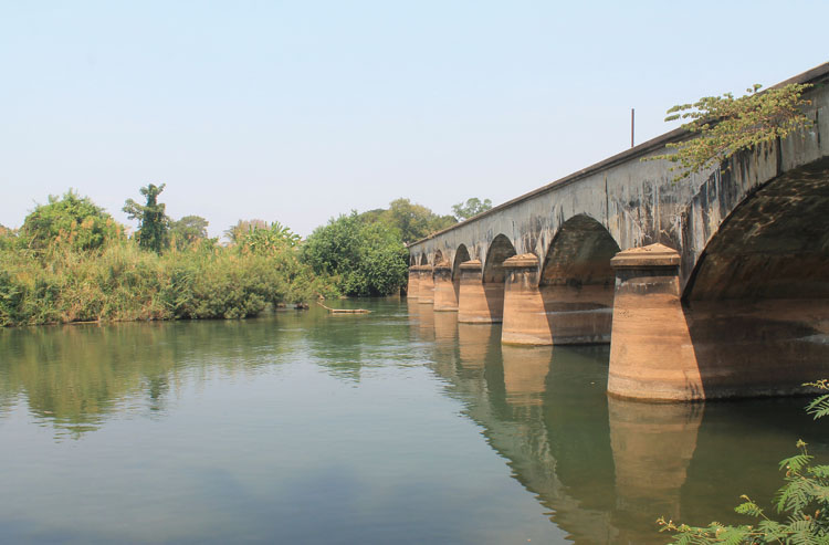 A 3 day Mekong River cruise in southern Laos -- The French bridge between Don Khon and Don Det