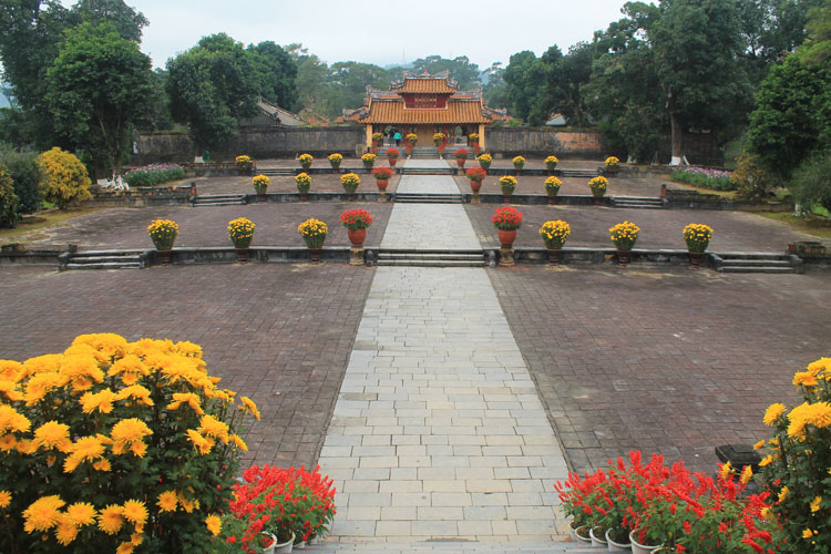 The best things to do in Hue, Vietnam -- Minh Mang's tomb flowers