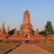 Cycling to the temples in Ayutthaya, Thailand