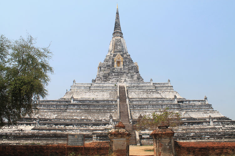 Cycling to the temples in Ayutthaya, Thailand -- Wat Phu Khao Thong
