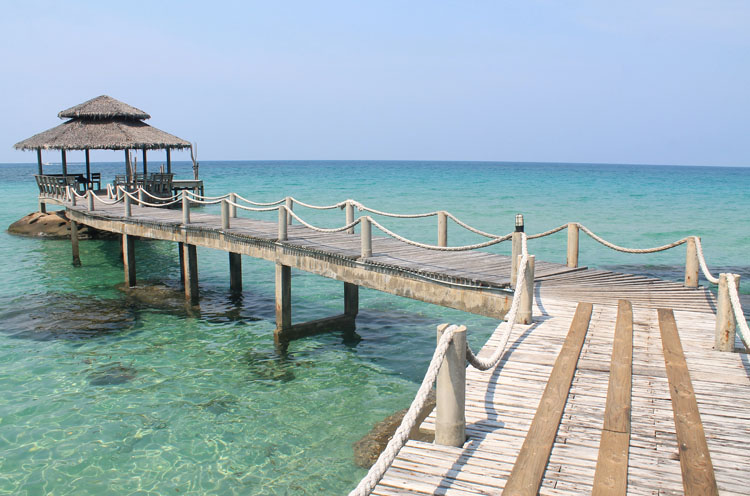 Ao Noi Beach pier Koh Kood, the most beautiful island in Thailand