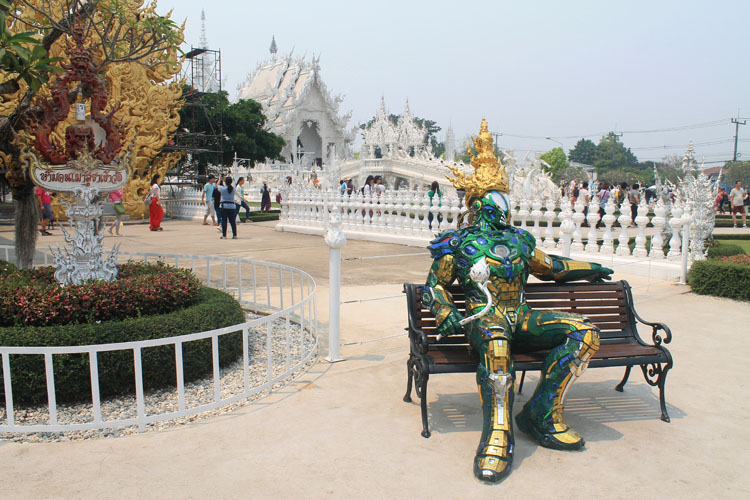 Robot at Wat Rong Khun, the white temple in Chiang Rai, Thailand