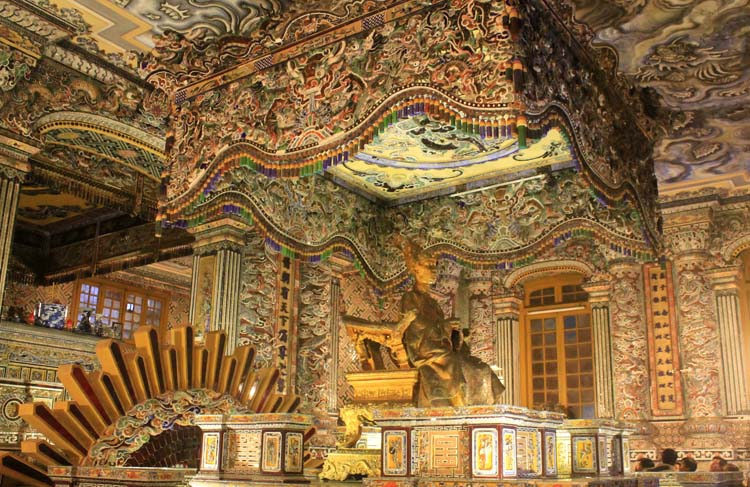 A day in Hue, Vietnam -- Khai Dinh's elaborate burial room