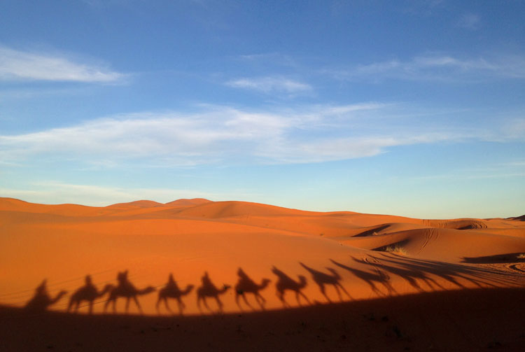 Backpacking in Morocco -- Erg Chebbi sand dunes