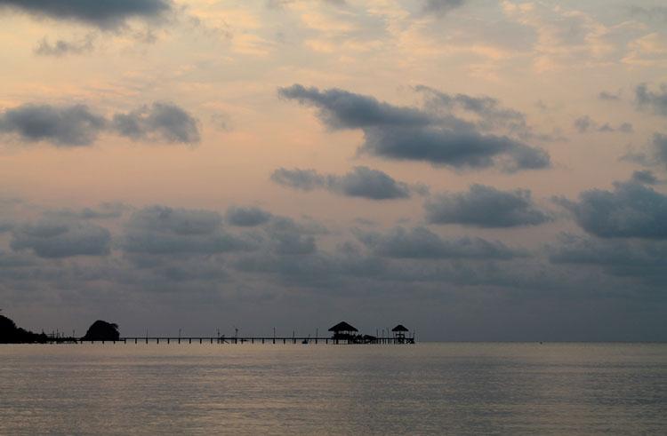 Sunset at Suan Yai Bay, Koh Mak, Thailand