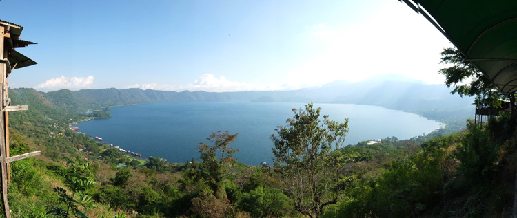 View from above Lago de Coatepeque, El Salvador