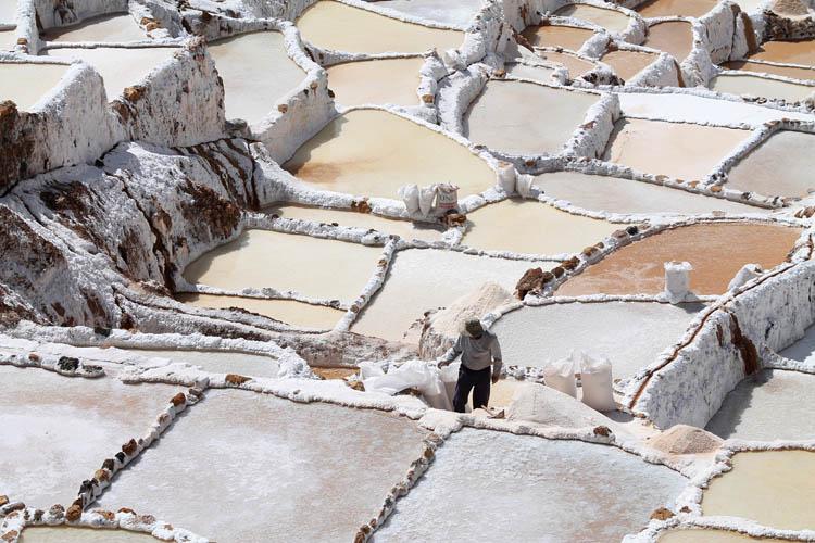 A day trip to Moray and Salinas de Maras, Peru -- Maras salt mines salinas