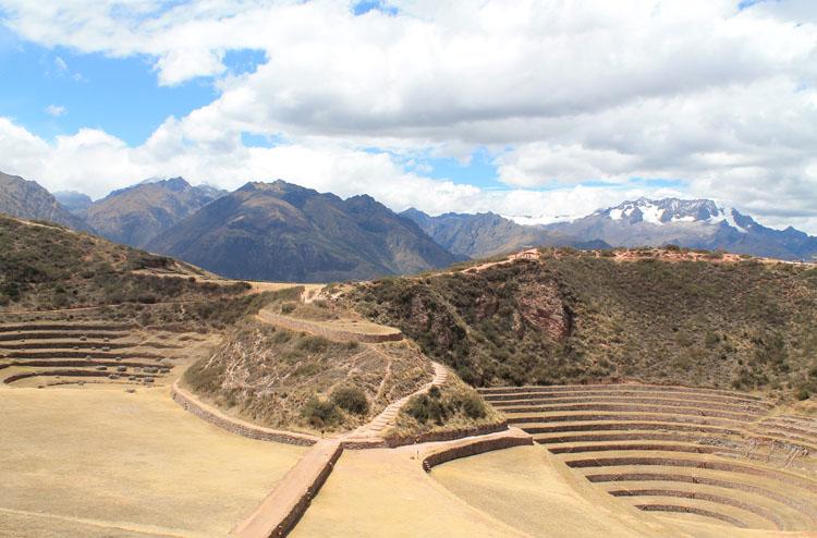 A day trip to Moray and Salinas de Maras, Peru -- Terrace ruins of Moray
