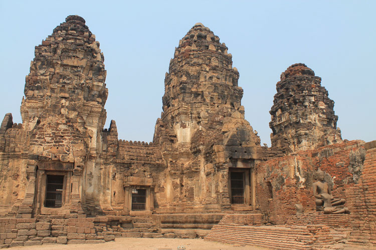Exploring the ruins in Lopburi, Thailand -- Prang Sam Yot
