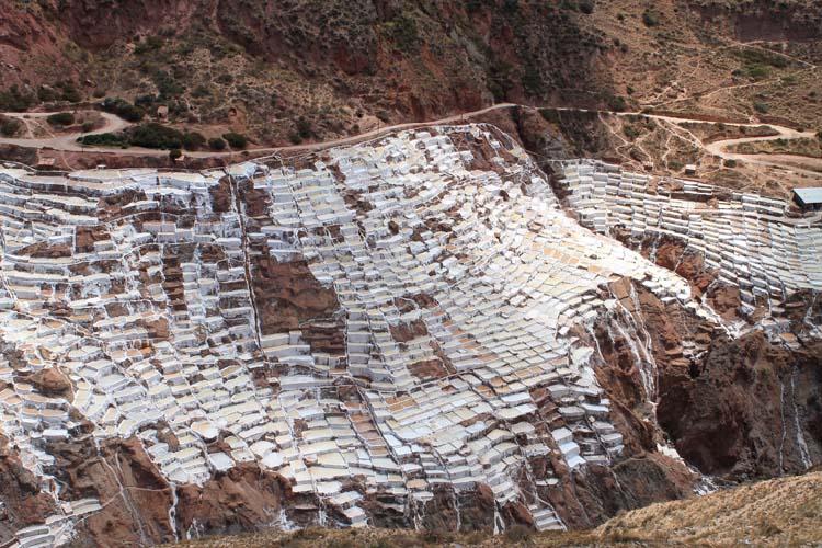 A day trip to Moray and Salinas de Maras, Peru -- salt at Salinas de Maras