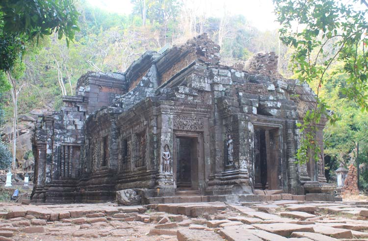 The sanctuary at Wat Phu (Vat Phou) -- Khmer ruins in Laos