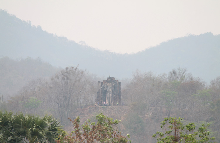 Cycling between Ancient Ruins in Sukhothai, Thailand -- Wat Saphan Hin