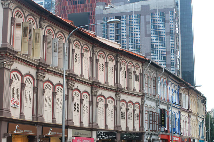 Shophouses on Tanjong Pagar Road, Singapore